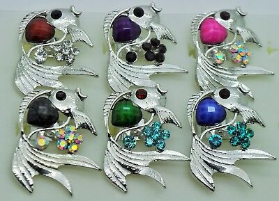 wholesale jewelry lot fish shape cocktail colorful adjustable fashion rings  R30