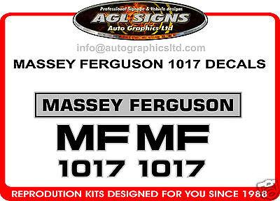 Massey Ferguson 1017 Tractor Decal Set Reprocduction