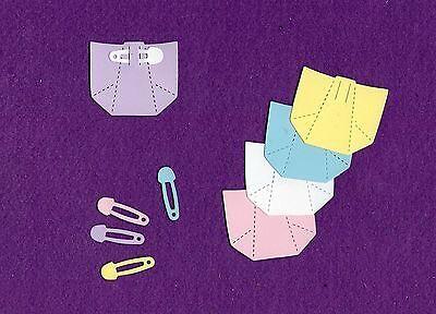 DIAPER & PIN die cuts scrapbook cards