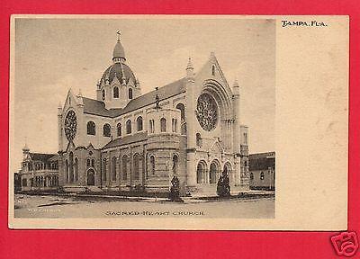 Tampa Fl Florida Sacred Heart Church  W  E  Chenot No 1 Undivided Back  Postcard
