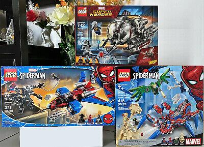 LEGO MARVEL SPIDERMAN ANTMAN Bundle Noir/2099/Wasp/Sandman/Venom 3 SETS LOT