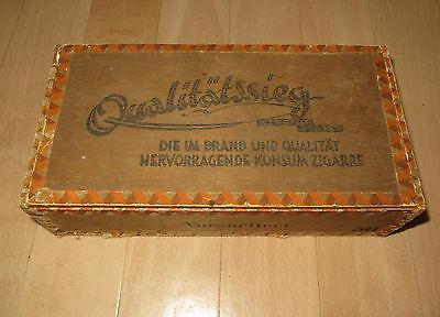 Alte rustikale Zigarren Kiste Schachtel Span Holz Antik 60er ges. gesch. 398380