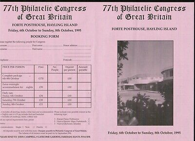 Great Britain 77th Philatelic Congress programme 1995