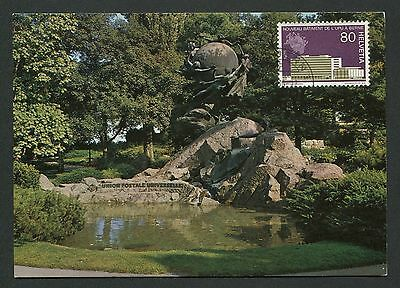 SCHWEIZ MK ÄMTER UPU DENKMAL BERN MAXIMUMKARTE CARTE MAXIMUM CARD MC CM c9378