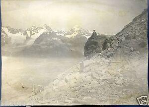 suisse sommets des alpes photo ancienne vers 1900 ebay. Black Bedroom Furniture Sets. Home Design Ideas