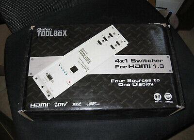 Gefen GefenTV 4x1 HDMI Switcher - video/audio switch - 4 ports  BLACK for sale  Shipping to India