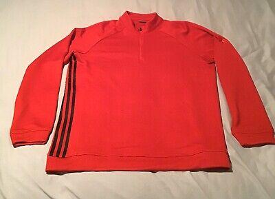 ADIDAS Originals Red 3-Stripe half Zip Jacket Men's SZ Large