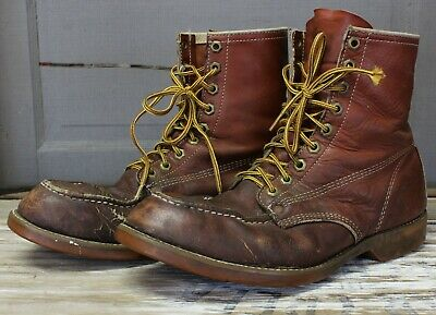 Iron Age Leather Steel Toe Boots Men's Brown 11