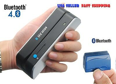 Msr-x6bt Writer Encoder Dx5 Bluetooth Wireless Magnetic Credit Card Reader Usa