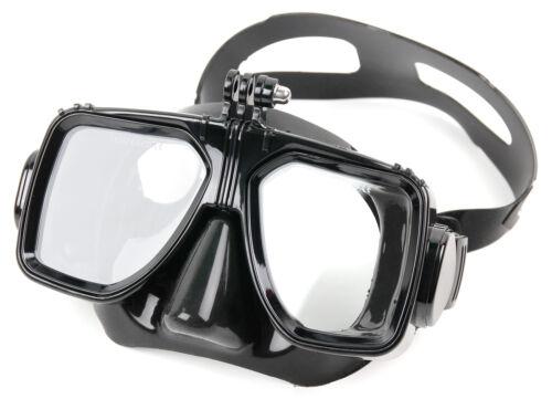 Taucherbrille mit Aufsatz für GoPro Hero 5 4 3 Kamera. Zum Tauchen & Schnorcheln