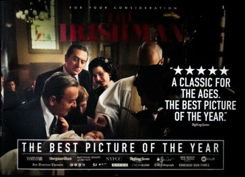 """""""THE IRISHMAN"""": VERY RARE, STUNNING 24 PAGE FYC BOOKLET - POST AWARDS"""
