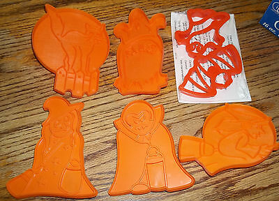 7 HALLOWEEN COOKIE CUTTERS Kiddy Kreetures DRACULA WilmaWitch CAT Ghost RIP Bat
