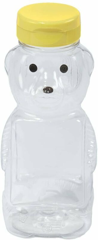 Little Giant HBEAR12 Honey BPA-Free PETE Plastic Bear Bottle 12 oz.