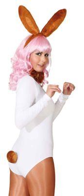 Orl - Zubehör zu Kostüm Hase braun Ohren Schwanz Karneval Fasching (Hase Ohren Schwanz Kostüm)