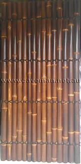 BAMBOO FENCING PANELS HALF BLACK BAMBOO 1.8 2.0 2.2 2.4m Heights