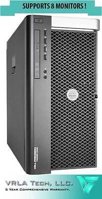 Dell T7910 2 X E5 2683 V3 128Gb Ram 2Tb Hdd 2 X W5100 Supports 8 Monitors