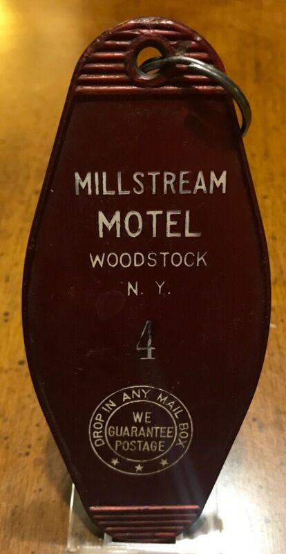 VINTAGE COLLECTABLE Millstream Motel Woodstock, New York Room Key And Fob #4