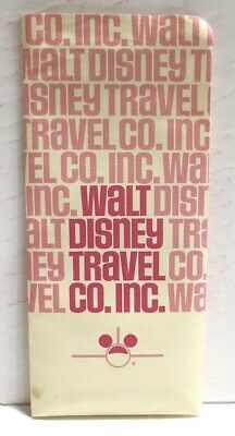 Vintage 1976 Walt Disney Land Travel Company Plane Ticket WESTERN AIRLINES Foldr