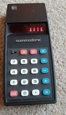 Vintage Commander Electronic Black Calculator Model 796M Office Desktop