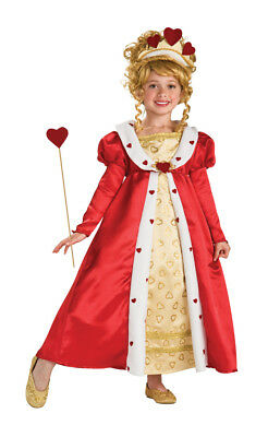 Red Heart Princess Child Girls Costume NEW Queen of Hearts