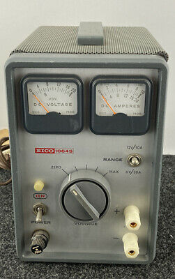 Vintage Eico 1064s Battery Eliminator Charger Variable Bench Dc Power Supply