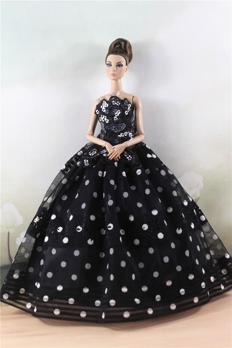 Fashion Party Dress/Wedding Clothes/Gown For Barbie Doll d19