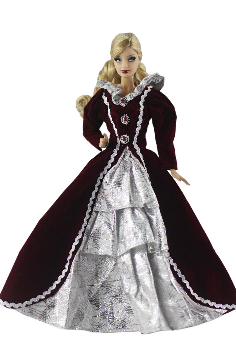 Fashion Princess Dress/Clothes/Gown For Barbie Doll d09