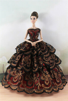 Fashion Party Dress/Wedding Clothes/Gown For 11 in. Doll d21
