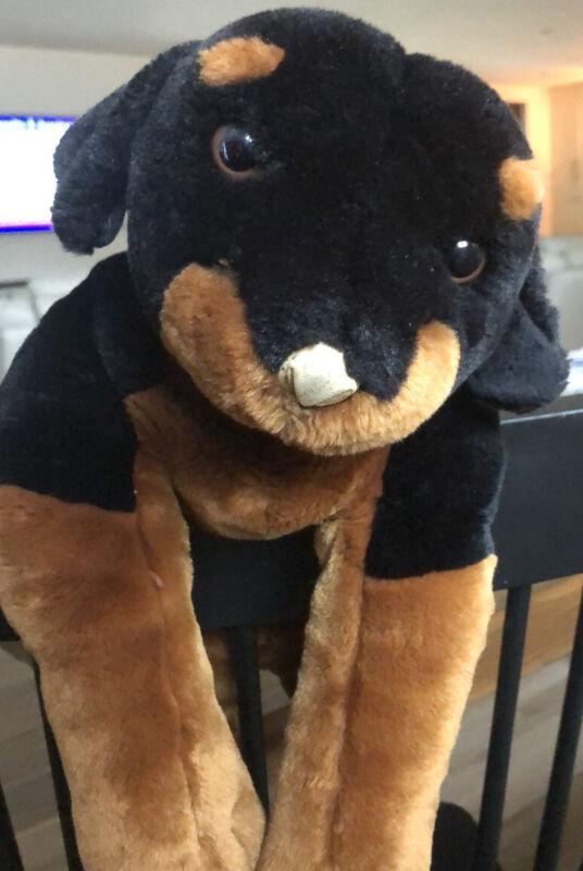 "Animal Alley Rottweiler Puppy. 20"" ToysRUs Plush Stuffed Animal. ."