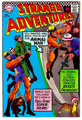 STRANGE ADVENTURES #195 in VF a DC silver age comic 1st ANIMAL MAN in costume - Animal Man Costume