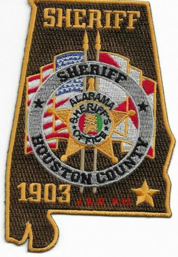 "*NEW*  Houston County Deputy, Alabama  (3"" X 5"")  shoulder police patch (fire)"