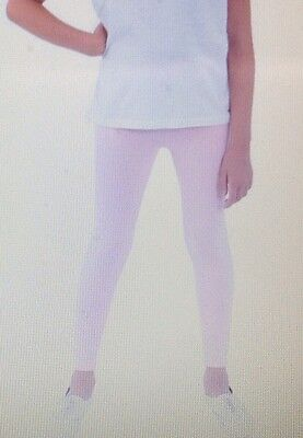 American Apparel Youth Cotton Spandex Jersey Legging Girls Size 10 New Soft Pink