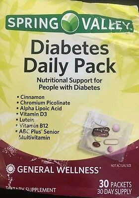 Spring Valley Diabetic Daily Pack 30 Days Multivitamin Exp03 18