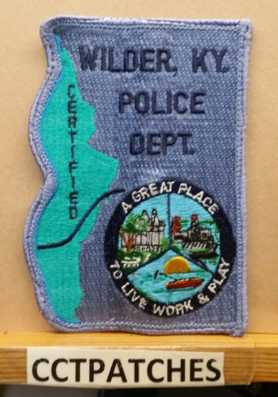 WILDER, KENTUCKY POLICE SHOULDER PATCH KY