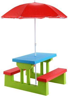 Conjunto de Mueble de Jardín para Niños Plegable Mesa Banco de Picnic...