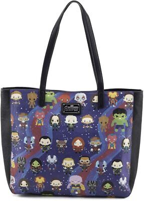Official Loungefly Marvel Avengers Kawaii Print Tote Bag Hand Bag New