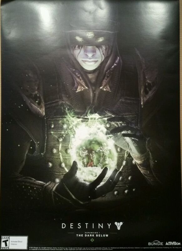 Destiny Gamestop display box promo poster advertisement L@@K