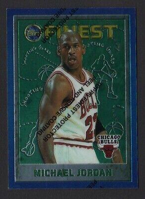 1995-96 MICHAEL JORDAN TOPPS FINEST # 229 W/ PEEL CHICAGO BULLS