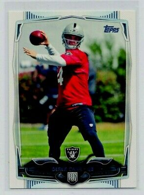 DEREK CARR 2014 Topps #438 Oakland Raiders Quarterback ROOKIE NM-MT or