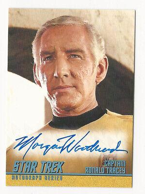 Morgan Woodward as Tracey STAR TREK TOS Captain's Collection Autograph Card A284