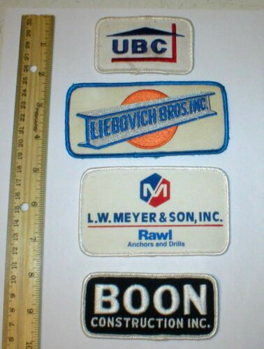 4 Construction Themed Patches Originals Liebovich Boon Meyer UBC Free Ship
