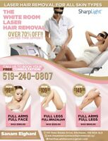 Over 70% off laser hair removal