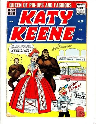 Katy Keene 38 (1958): FREE to combine- in Good/Very Good condition