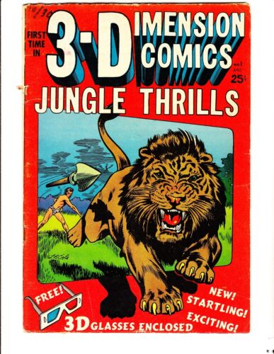 3-D Jungle Thrills 1 (1953): FREE to combine- in Very Good-  condition