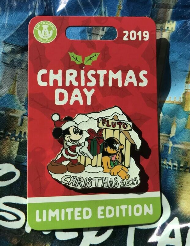 Disney Merry Christmas 2019 Mickey And Pluto Pin New LE Pin 5000