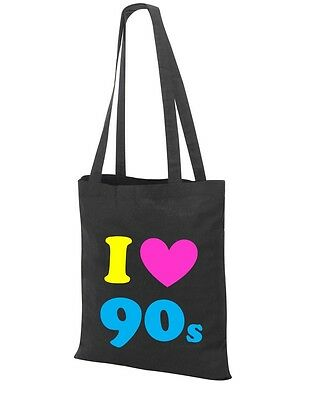 I Love The 90s Tote Bag - 90's Fancy Dress Costume Outfit Neon Party - 90s Party Outfit