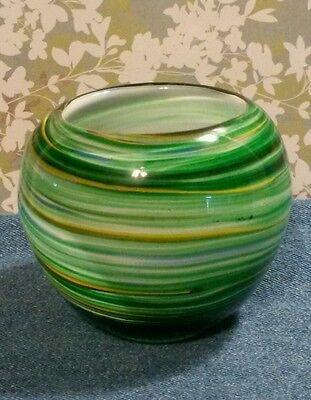 Small Murano Style Hand Blown  Art Glass Vase