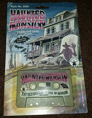 Rubie's Vintage 1987 Halloween Haunted Mansion Horror Sounds GRAY Tape!! RARE!!