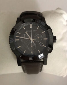 Burberry Men's Chronograph leather watch