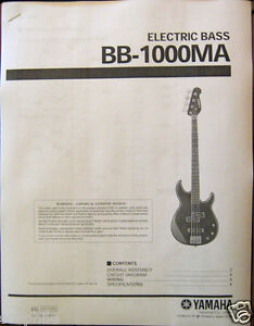 yamaha bb 1000 ma electric bass guitar service manual and parts list booklet ebay. Black Bedroom Furniture Sets. Home Design Ideas